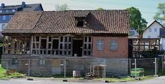 Half-timbered framework reconstruction (:Linda:) Tags: brick germany village veilsdorf halftimbered reconstruction