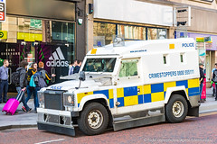 PSNI - Armoured Land Rover Pangolin - Tactical Support Group (Agent Tyler Durden) Tags: police belfast landrover pangolin riotpolice armouredcar alr landroverdefender psni policeforce belfastcity armouredlandrover policeservice policeservicenorthernireland policelandrover psnilandrover landrovertangi landroverpangolin landroverpenman