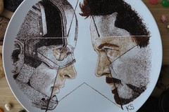 captain america civil war close up (pedalstrike) Tags: cookies america civilwar captain captainamerica foodart tonystark chrisevans robertdowneyjr