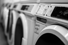 Rinse Wash Repeat Repeat (pillarsoflight) Tags: blackandwhite bw monochrome beauty oregon portland prime aperture nikon many laundry adobe pdx desaturated 18 35 pnw washer lightroom repeated wide d3300 aperture