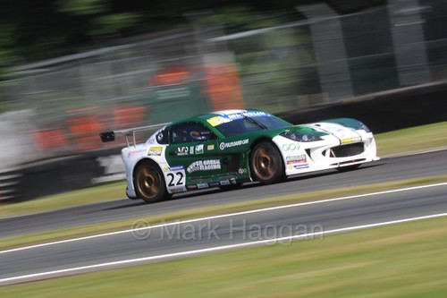 Ben Green in the Ginetta GT4 Supercup during the BTCC at Oulton Park, June 2016