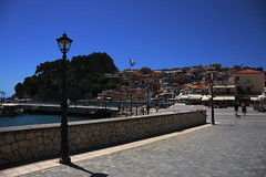 Parga, Greece (Vojinovic_Marko) Tags: travel sea water architecture boat town dock nikon waterfront outdoor hellas greece seafront ionian parga epirus  grka  d7200