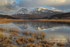 Peaceful Arkle (Shuggie!!) Tags: winter snow mountains water clouds reflections landscape scotland morninglight highlands williams shoreline hills karl grasses sutherland zenfolio karlwilliams
