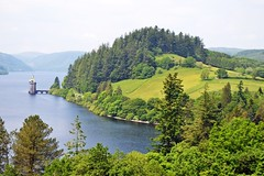 Lake Vyrnwy (alyrees) Tags: park camera uk flowers blue trees light summer sky plants lake hot green tower nature water wales clouds boats photography countryside photo warm peace natural united country kingdom hills national photograph tavern dslr snowdonia vyrnwy llanwddyn d3100