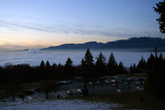 winter gloaming (world of jan) Tags: sunset vancouver bc britishcolumbia burnaby inversion burnabymountain gloaming burnabymountainpark temperatureinversion