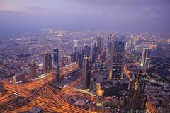 Burj Khalifa (Dubai) (I Photograph 4 U) Tags: color canon dubai view cor nightfall burjkhalifa