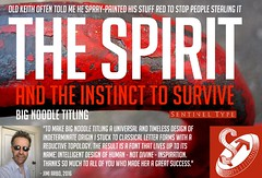 The Spirit - Big Noodle Titling poster ad (a r b o) Tags: poster ad advertisement latin font condensed typeface capitals allcaps sentineltype bignoodletitling