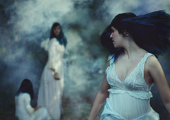 Ghosts of the Past (Alice Consonni) Tags: portrait white selfportrait girl fog photoshop self photography photo nikon dress artistic outdoor alice smoke creative atmosphere portraiture ghosts past d80 nikond80 consonni ghostofthepast