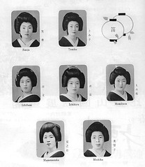 Kamogawa Odori 1961 023 (cdowney086) Tags: vintage geiko geisha  1960s pontocho michiko tomiko onoe    kamogawaodori  ichifumi mamenosuke ichihiro momikazu emiju