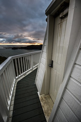 Manukau Head Lighthouse Doorway (B4Dawn2010) Tags: sunset newzealand lighthouse coast auckland cloudscapes manukau manukauhead