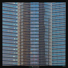 The Book of Azrieli (Ilan Shacham) Tags: blue windows abstract building tower texture window architecture israel telaviv pattern geometry fineart towers shapes round forms fineartphotography azrieli