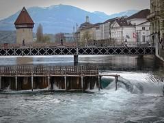 Luzern (Switzerland) (Steffi-Helene) Tags: water schweiz aqua suisse cities bridges luzern rivers brcken rivires flsse