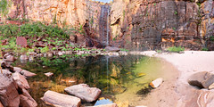 Jim Jim Falls, Kakadu National Park (Louise Denton) Tags: kakadu jimjim nt northernterritory waterfall reflection outback relax beach rock escarpment arnhemland explore darwin jabiru australia