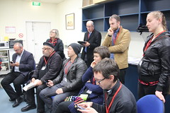 Candidates and campaign organisers at AEC Ballot position draw for #wills2016 at Glenroy (John Englart (Takver)) Tags: democracy election australia victoria wills aec glenroy ausvotes ballotdraw peterkhalil ausvotes2016 wills2016