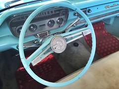 1960 Pontiac Convertible dashboard (humberama) Tags: old classic car wheel vintage catalina 60s steering retro american pontiac dashboard sixties parisienne