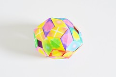 Disphenocingulum out of edge units (Byriah Loper) Tags: paper origami polygon paperfolding polyhedron origamimodular byriahloper