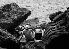 two 1 (olly23fano) Tags: old sea two blackandwhite cinqueterre twopeople fivelands 5lands
