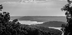 Table Rock (jhoff1257) Tags: blackandwhite bw white lake black water beautiful sailboat landscape outside coast boat reservoir missouri branson ozark tablerock tablerocklake bodyofwater missourilake visitmo