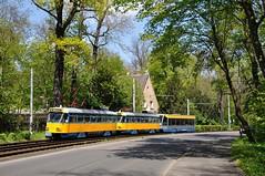 LVB 2139 + 2190 + 922, Leipzig Waldstrae, 02-05-2016 (Michael Postma) Tags: tram leipzig tatra lvb leipziger verkehrsbetriebe strasenbahn nb4 waldstrase t4dm