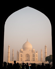 Typical Day at the Taj Mahal (DEARTH !) Tags: travel india history monument architecture tajmahal agra mausoleum frame framing dearth in uttarpradesh sevenwondersoftheworld
