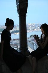 The Art of Conversation (I'm Anonymous K) Tags: girls portrait girl night asian hungary view candid budapest sightseeing rude buda ignoring ignore onhermobile ignoreherfriend