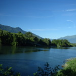 Early morning from the coach - the northern part of Lake Como - Mera River thumbnail