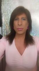 Pink and brunette (bevhills2) Tags: pink tranny