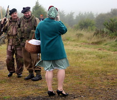 Not quite as it seams (Time Grabber) Tags: timegrabber vintage steam blaenavonrailway steamtrain 1942 2016 classicdress military digforvictory southwales german british american reenactment land girls uniform costume stocking seams