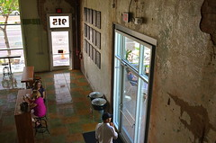 Respite (MPnormaleye) Tags: street city urban brick window architecture concrete restaurant cafe doors market diner wideangle aerial retro utata 24mm candids eatery