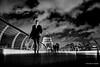 Walk (mickyates) Tags: street leica bridge sky people urban blackandwhite bw london thames night clouds 50mm lights cathedral walk may stpauls dramatic f10 millennium explore nik mp noctilux meet 240 lightscape 2015 thatsclassy silverefexpro