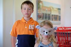 A grantwoodian portrait with rodent mask (Lars Plougmann) Tags: portrait cute painting children mask dscf8334 grantwoodian