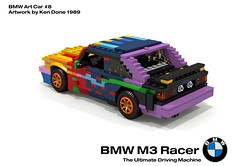 BMW M3 Racer - BMW Art Car #8, Ken Done - 1989 (lego911) Tags: auto art classic car germany championship model lego render ken racing german rush bmw 1989 done fools m3 1980s 90 coupe challenge e30 cad racer lugnuts povray moc ldd 2015 foolsrushin miniland lego911 artcar2015
