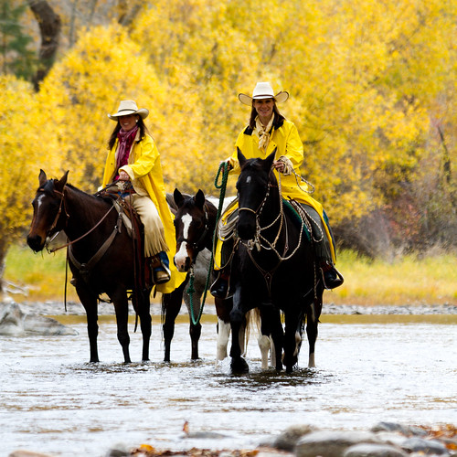 Triple Creek Ranch Fall Horseback Ride