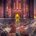 Misty paths around Roskilde Cathedral