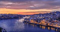 Porto || Oporto (João.Martins) Tags: light sunset sky sunlight portugal rio night canon river unesco 7d douro late citycenter oporto ribeira norte lateafternoon canon1022 ribeiradoporto canon7d