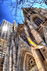 St Patrick's Cathedral NYC (Tryppyhead) Tags: newyorkcity usa church cathedral fifthavenue hdr nikond5000 photomatixpro4