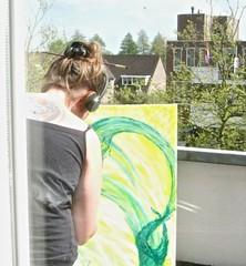 painting on the balcony (muffett68 ) Tags: inspiration sc painting balcony porch motivation dd ansh hobbiesinterests scavenger18 sc516