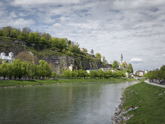 Colorful beautiful Salzburg (dudorioo) Tags: city trees sky salzburg green colors berg river austria foliage harmonious slzach