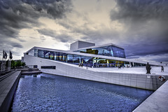 Oslo Opera House revisited (K Michael F C) Tags: city blue colour reflection building water glass oslo norway architecture operahouse