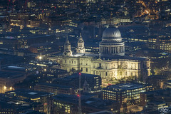 St Pauls Cathedral (Umbreen Hafeez) Tags: city uk blue light england building london st skyline architecture night skyscraper dark twilight europe long exposure cityscape cathedral outdoor dusk low pauls hour wharf gb canary complex
