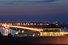 The Calm before the MDW storm (seanbeebe_photo) Tags: night traffic nj oceancity somerspoint ocnj speedblur 9thstbridge