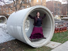 Me having fun with the construction on our street! (M lambie) Tags: top sewing skirt cami garments alabamachanin