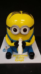 Baby Minion (dragosisters) Tags: baby cake carved babyshower minions minion