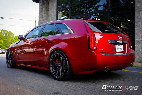 Lowered Cadillac Cts V Wagon With 20in Vorsteiner V Ff 103 Wheels