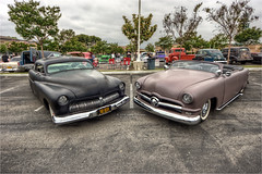 1951 mercury and 1950 ford (pixel fixel) Tags: black ford tan convertible primer 1950 matte lamirada dukes 1951 relayforlife splashlamiradaregionalaquaticscenter