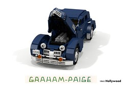 Graham 1941 Hollywood (lego911) Tags: auto usa classic car america sedan vintage cord model lego render paige 1940s chrome hollywood fabulous saloon graham forties challenge 103 1941 cad 812 acd lugnuts povray moc 810 ldd miniland lego911 thefabulousforties