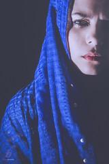 Feeling Blue (ileset) Tags: blue portrait sad hardlight