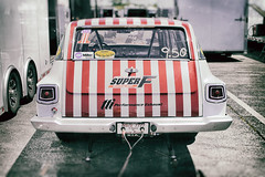 Super F (Trippin' all over the place) Tags: red white blur classic cars race vintage words decay stripes fast panasonic numbers nik furious distort m43 gx1