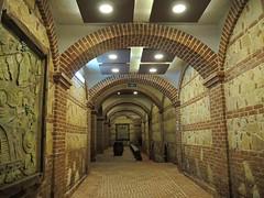 Macedonia (Tikves)  Walkway to wine cellars (ustung) Tags: architecture hall nikon arch indoor winery macedonia cellar tikves