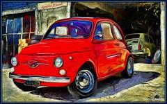 Fiat 500 - Luglio-2016 (agostinodascoli) Tags: auto art photoshop nikon digitalart digitalpainting nikkor sicilia fiat500 automobili photopainting cianciana agostinodascoli